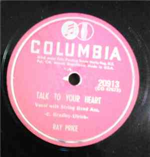 Ray Price - Talk To Your Heart / I've Got To Hurry, Hurry, Hurry
