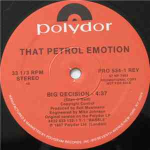 That Petrol Emotion - Big Decision